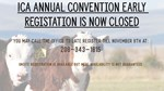 convention registration closed message